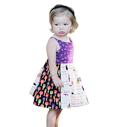 WILLTOO Toddler Baby Halloween Costume Print Sleeveless Party Funny Dress Girls