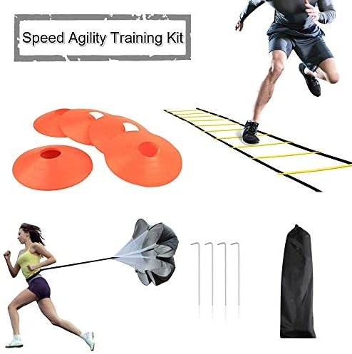 JEMPET Speed Agility Training Kit-Includes Agility Ladder