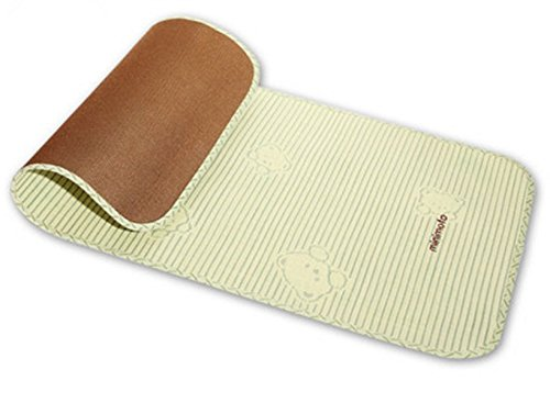 Natural Flax Baby Summer Bamboo Carbon Sleeping Mat Breathe Freely and Cool by Minimoto