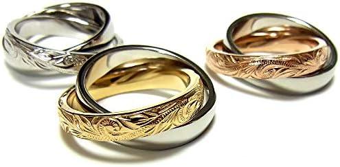 [ジュライス]juraice ハワイアンジュエリー 2連 リング 指輪 スクロール レディース メンズ プレゼント 金属アレルギ