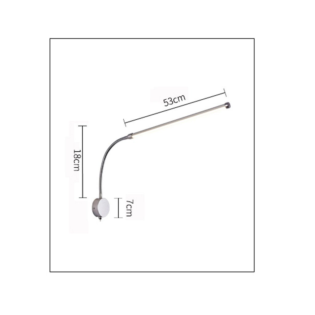GYR Wall Lamp Reading Lamp Led Wall Lamp Modern Bedroom Bedside Lamp Tube Lighting Spot Wall Modern Lamp Minimalist with Switch Wall Lamp 57edeb