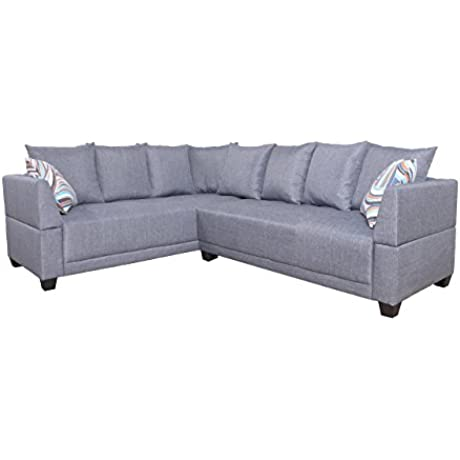 LifeStyle Furniture Ambrine Sectional Sofa Set Grey