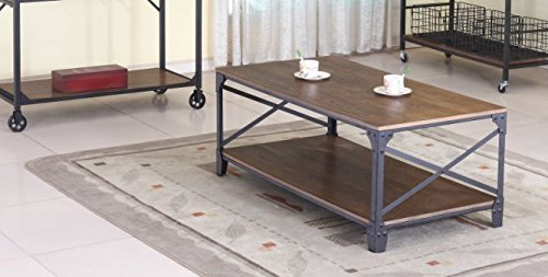 - Baxton Studio Wholesale Interiors Greyson Vintage Industrial Occasional Cocktail Coffee Table, Antique Bronze