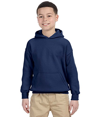 Heavy Blend Youth Hooded Sweatshirt, Color: Navy, Size: Small