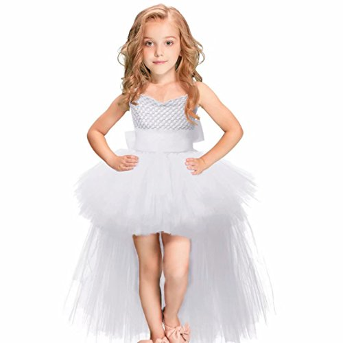 Tsyllyp Girls Flower Wedding Pageant Princess Bowknot Communion Party Dress ()