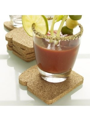 Toast It! Cork Toast Coasters - Set of 8