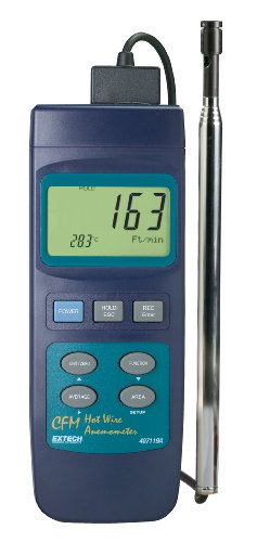 Extech 407119 Heavy Duty CFM Hot Wire Thermo-Anemometer ()