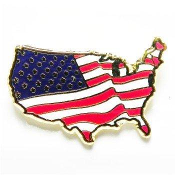 American Flag Pin USA Shape