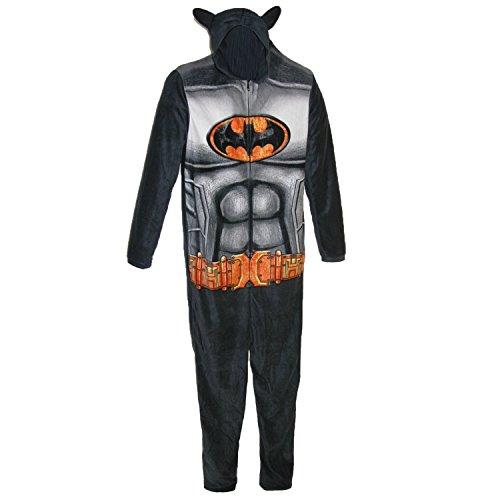 BioWorld Batman Union Suit Loungewear, Large, Black