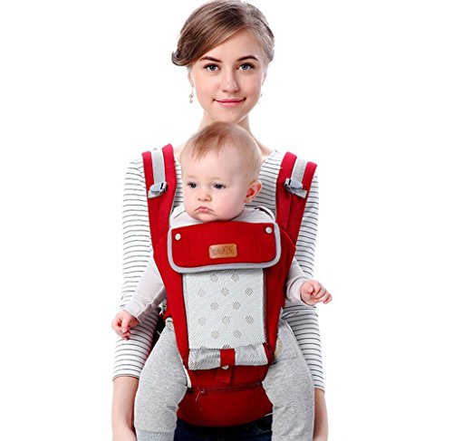 Baby Carrier with Hip Seat for All Seasons - QHUMO 360 Ergonomic baby Carrier Sling Backpack for Infants and Toddlers, Front and Back, New Baby Gifts for New Mum/Dad from QHUMO