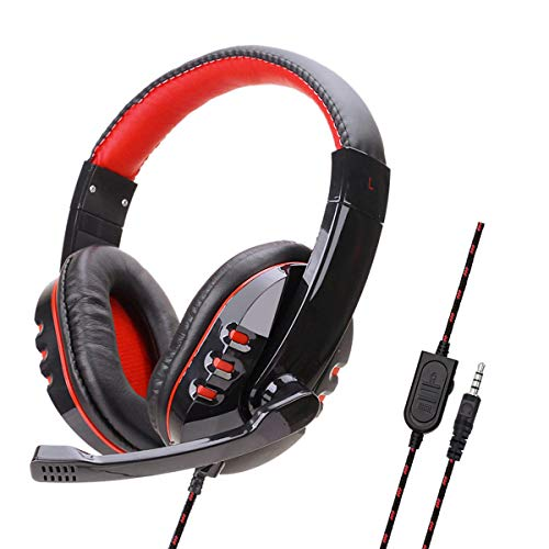 Gaming Headset for PS4 Xbox One Stereo Surround Wired Over Ear Headphones with Microphone