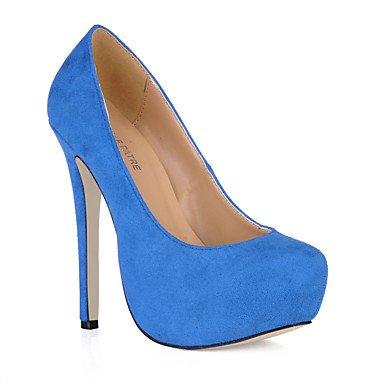 Le donne eleganti sandali SEXY DONNA PRIMAVERA tacchi cadono Comfort Ufficio di velluto & Carriera Party & abito da sera Stiletto Heel Blu Verde rosa grigio viola scuro , verde , us6 / EU36 / UK4 / CN