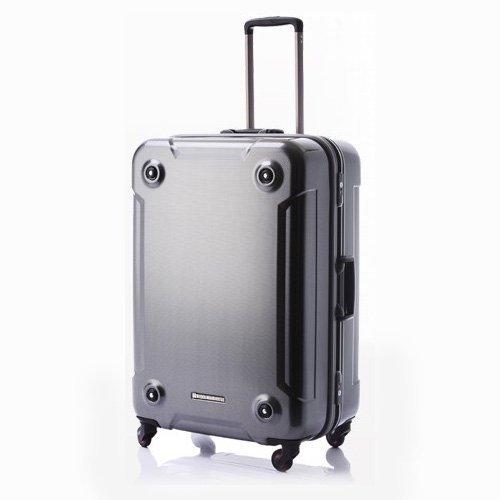 (ヒデオワカマツ)HIDEO WAKAMATSU スタック スーツケース Lサイズ 92L(1週間以上対応)/85-75870 B01M16Y4T4カーボンシルバー