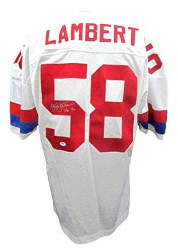Autographed Jack Lambert Jersey - Pro Bowl AB73081, used for sale  Delivered anywhere in USA
