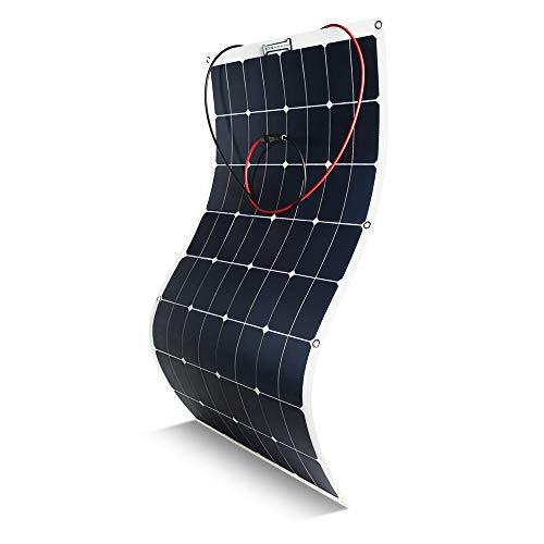 Kingsolar Flexible Solar Panel 100 Watt 18 Volt 12 Volt, ETFE Surface Not PET Surface(Most of Others) Ultra Lightweight, Ultra Thin, Up to 260 Degree Arc, for RV, Boats, Roofs, Uneven Surfaces