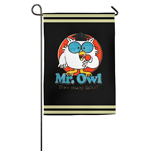 WILLIE Mr. Owl Garden Flag House Flag College Flag For Home Garden Party Supplies Weeding Dinner Sporting Game (Tootsie Roll Owl Costume)