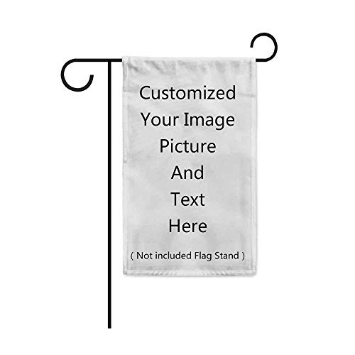 KafePross Customized Garden Flag Custom Your Personalized Picture Photos Words or Logo Home Decor Banner for Outside 12.5
