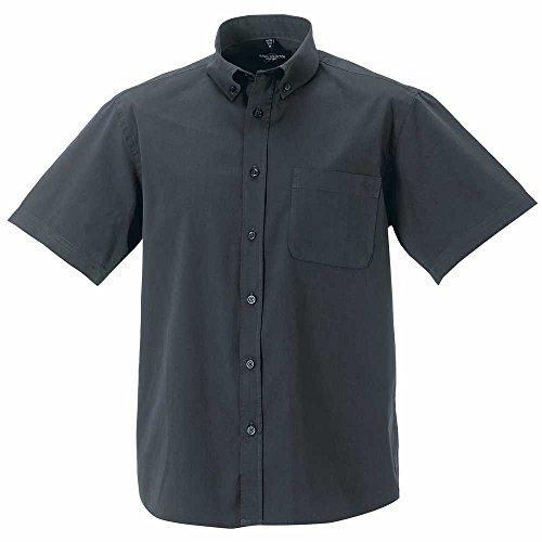 Russell Short Sleeve Classic Twill Shirt Zinc