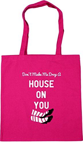Gym 42cm you Tote Don't HippoWarehouse make Shopping 10 litres on Beach house a drop x38cm Bag Fuchsia me SwvOqwf