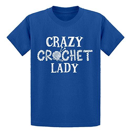 (Indica Plateau Youth Crazy Crochet Lady X-Large Royal Blue Kids T-Shirt)