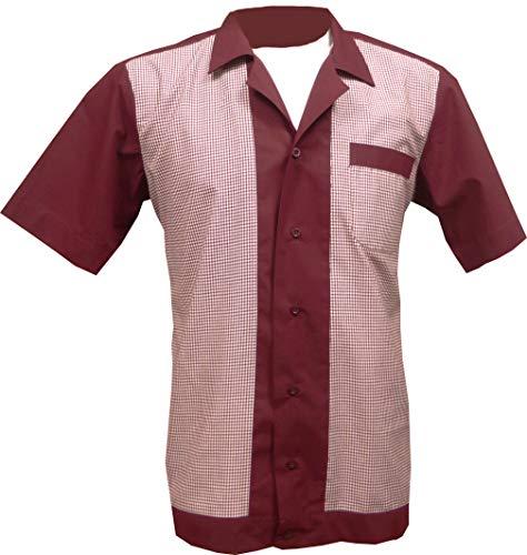 1950s/1960s Rockabilly,Bowling, Retro, Vintage Men's Shirt (Medium)