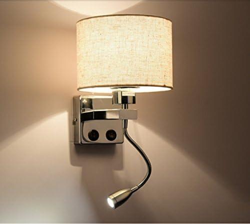 Wall lamp Moderna Escalera Creativa Simples Hotel Salón Dormitorio Pasillo Balcón LED Luces De Pared con Interruptor (Color : Round Color, Tamaño : Solo Cabezal): Amazon.es: Hogar