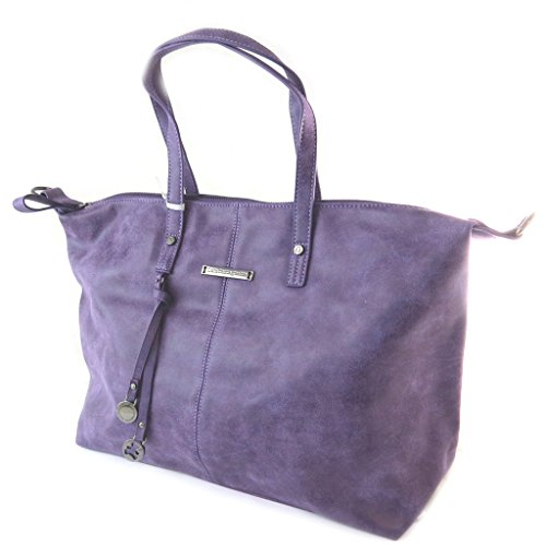 "Lulu Castagnette [N9846] - Sac créateur ""Lulu Castagnette"" violet vintage - 49x30x15. 5 cm"