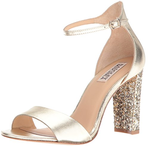 Badgley Mischka Women's Gwen Dress Sandal, Platino, 7.5 M US