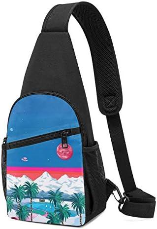ボディ肩掛け 斜め掛け 風景画 ショルダーバッグ ワンショルダーバッグ メンズ 軽量 大容量 多機能レジャーバックパック