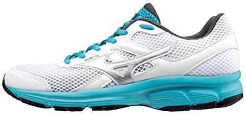 Mizuno Scarpa Running Sneaker Donna Spark Bianco Turchese 37