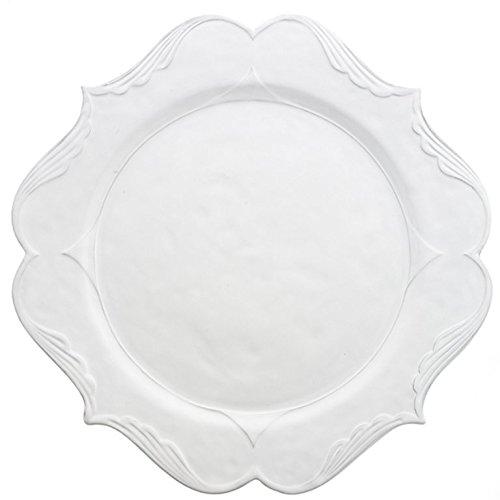 Arte Italica Bella Bianca Rosette  Charger Plate