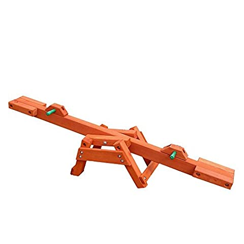 Gorilla Playsets Portable Cedar Wooden See-Saw - Montgomery Swivel