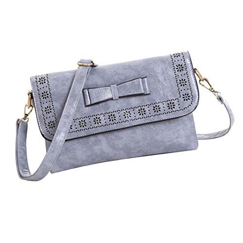 Nanxson Woman/Lady Retro British Style Bowknot Hand Bag AL4084 (blue)