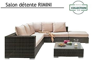 M&Mhomeware - Salon de jardin détente RIMINI (2 banquettes ...