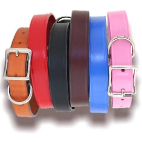 Town Dog Collar - 6 colors - Tan 1in W x 18in