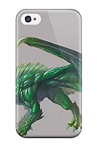 David R. Spalding's Shop premium Phone Case For Iphone 4/4s/ Emerald Dragon Tpu Case Cover