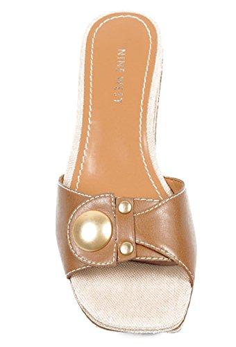 NINE WEST - Sandalia De Plataforma Mujer NWZOILO DK NATURAL Tacón: 7 cm