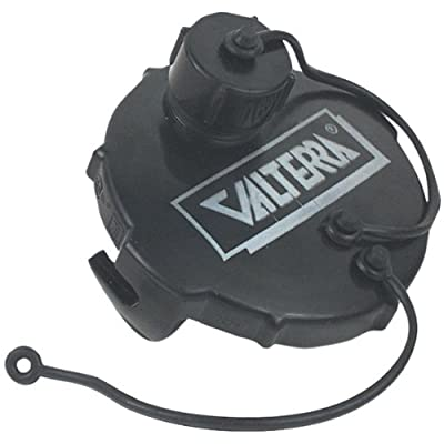 "Valterra T1020-1 Waste Valve Cap - 3"" with Capped 3/4"" GHT, Black: Automotive"