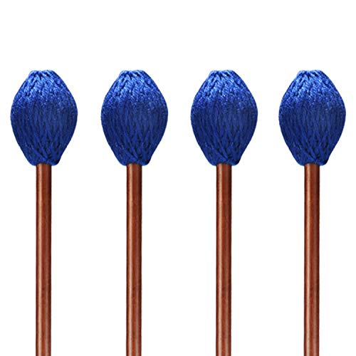 Canomo 2 Pair Blue Yarn Head Keyboard Marimba Mallets With Maple Handle for Marimba Playing, Medium Hard by Canomo