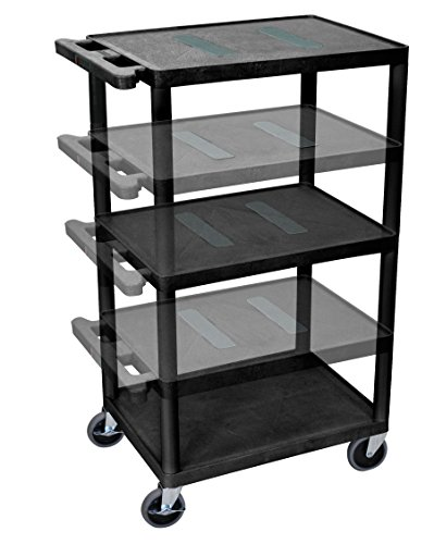 LUXOR LEDUO-B Multi-Height Endura Table, Black by Luxor