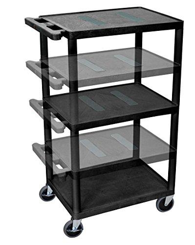 Adjustable Height Plastic Av Carts (LUXOR LEDUO-B Multi-Height Endura Table, Black)