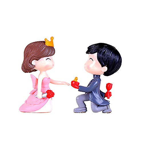 Teydhao 2Pcs Bride Groom Miniature Couple Wedding Party Ornaments Gift Micro Landscape Decor Home Kids Children Bedroom Decoration Outdoor Decor