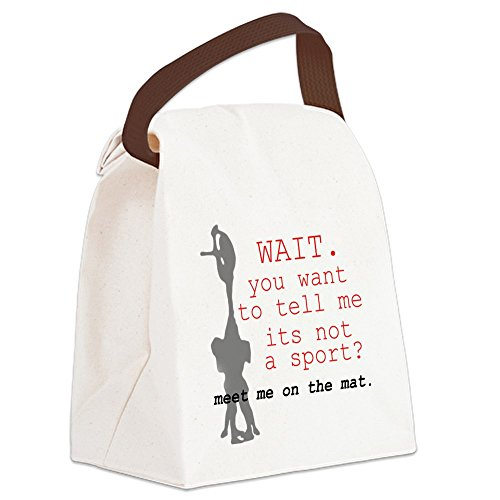 CafePress - Meet Me on the Mat Canvas Lunch Bag - Canvas Lunch Bag with Strap Handle]()