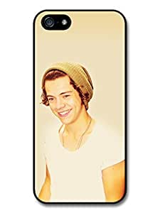 Harry Styles Smile with Hat One Direction 1D Directioners case for iPhone 5 5S A621 by Maris's Diary