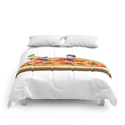 Society6 Soccer Pizza Comforters Full: 79'' x 79'' by Society6
