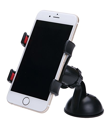 Car Mount Universal Cell Phone Car Holder for All Phones IPhone, Galaxy, HTC, Note,GPS.Car Mount Phone Holder Suction Cup iphone Holder A011hei