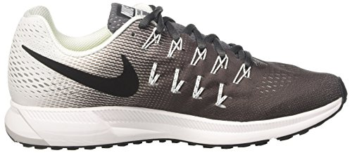 Nike Air Zoom Pegasus 33, Zapatillas de Running Para Hombre Gris (Dark Grey/Black-White)