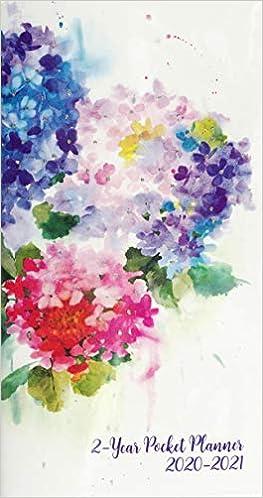 Purse Calendar 2020 2020 21 Hydrangeas 2 Year Pocket Planner (24 Month Calendar): Inc