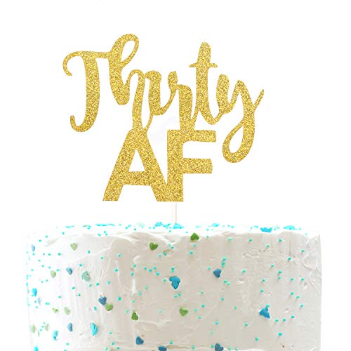 PALASASA Single Sided Colorful Glitter Laser Happy 21th Birthday 21 Anniversary Cake Topper Party Decoration Supplies