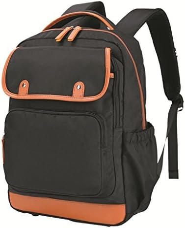 男性と女性の通気性の高い防水布高と高校トレンドの旅行のバックパックのバックパック (色 : Black)